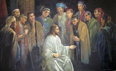gesù cristo insegna le scritture